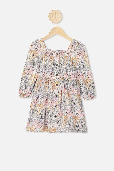 Lindsay Long Sleeve Dress, KIP&CO/LITTLE FLOWERS