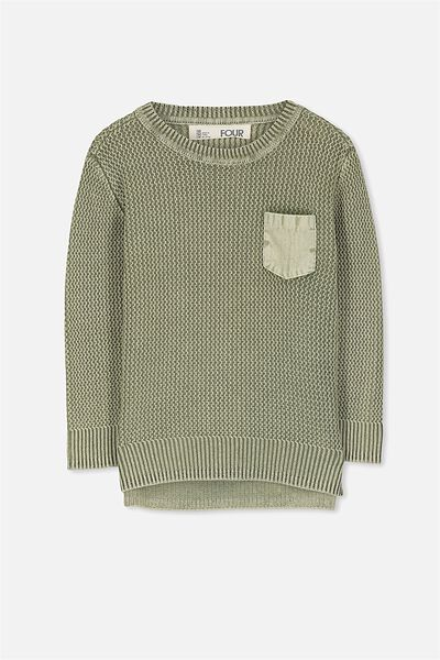 Nelson Knit, FADED KHAKI