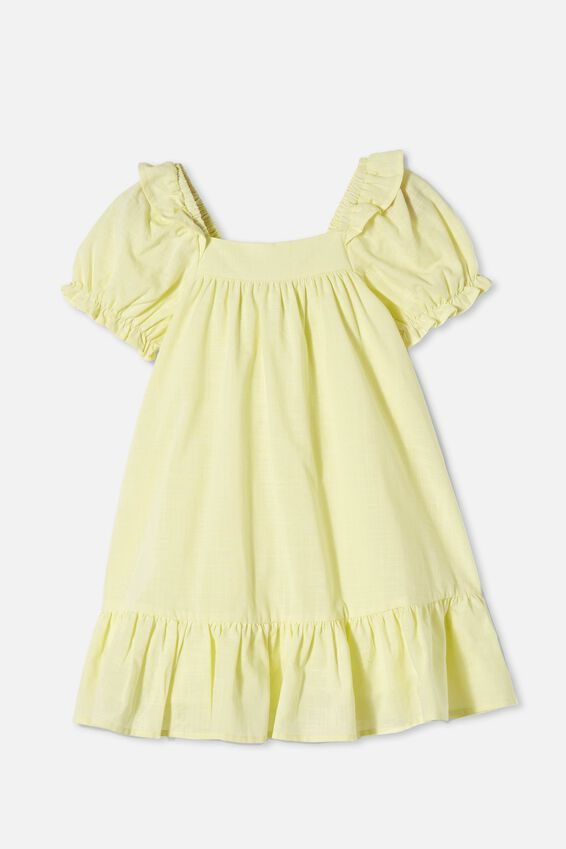 Aimee Short Sleeve Dress, LEMONADE