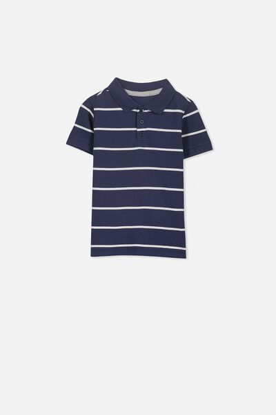 Kenny 3  Polo, WASHED NAVY/YDS