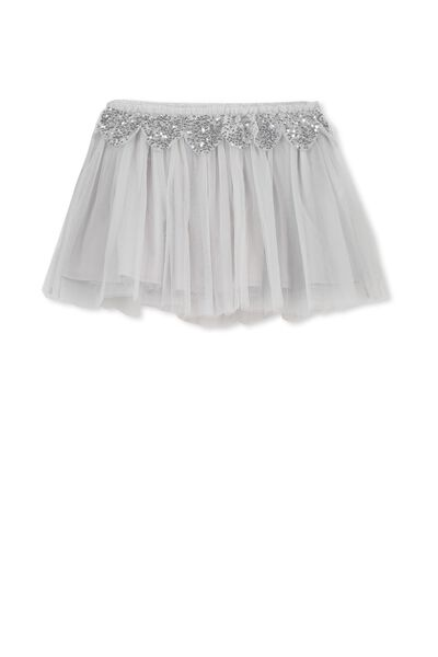 Trixiebelle Tulle Skirt, HERO SILVER/SCALLOP