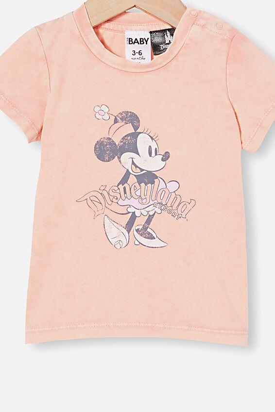 Disneyland Jamie Short Sleeve Tee, LCN DIS MUSK MELON SNOW WASH/VINTAGE MINNIE