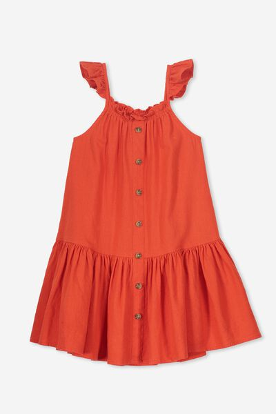 Lettie Dress, ENGINE RED