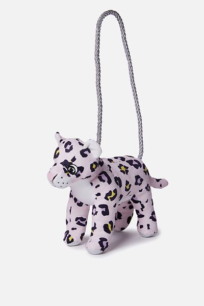 Plush Animal Bag, LEOPARD