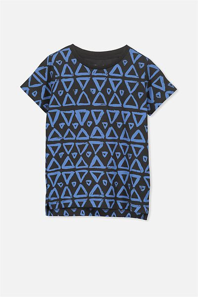 Max Short Sleeve Tee, GRAPHITE TRIANGLES/SIS