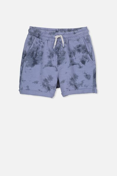 Henry Slouch Short, STEEL WASH/TIE DYE