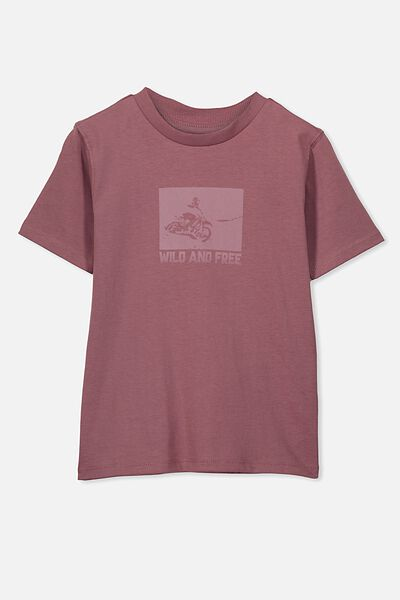 Max Skater Short Sleeve Tee, WILD AND FREE/VINTAGE BERRY