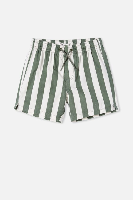 Volly Short, CANDY STRIPE/SWAG GREEN
