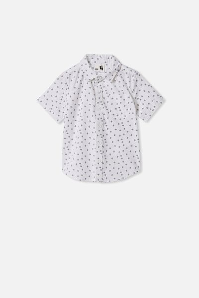 Resort Short Sleeve Shirt, DITSY LINES/WHITE