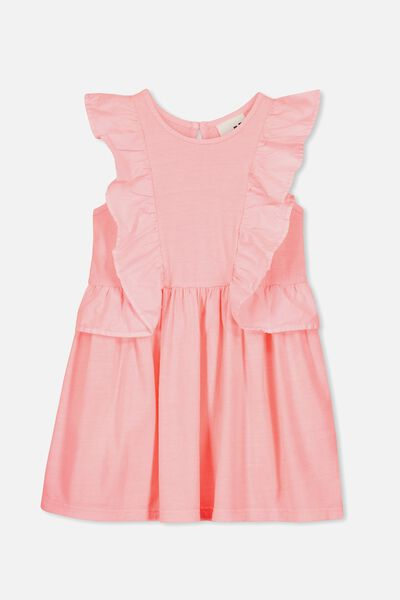 Sheridan Sleeveless Dress, PINK GRAPEFRUIT