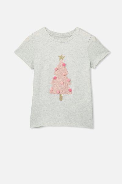 Stevie Ss Embellished Tee, SUMMER GREY MARLE/CHRISTMAS TREE/MAX