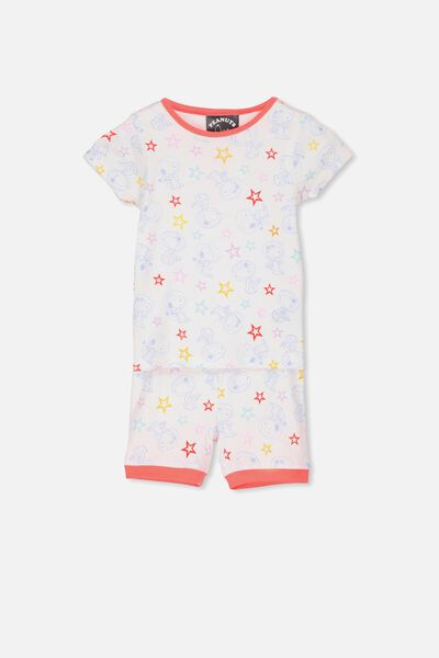 Chloe Girls Short Sleeve PJ Set, LCN SNOOPY IN SPACE