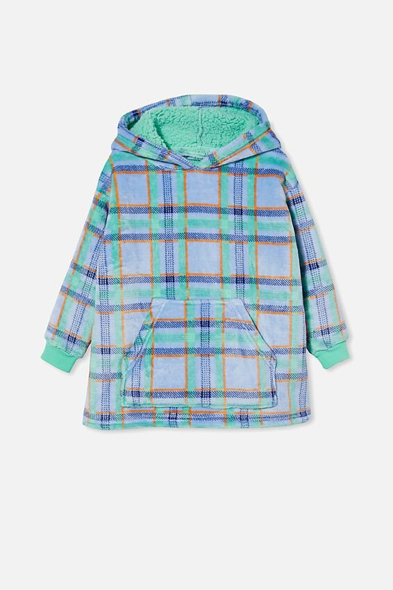 Snugget Kids Oversized Hoodie, CHOCOLATE THEIF/MINT BREEZE