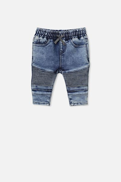 Carter Moto Jean, DENIM WASH
