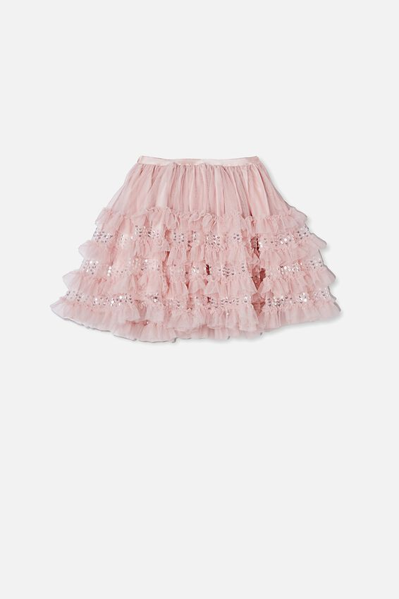 Trixiebelle Dress Up Skirt, DUSTY PINK/RUFFLES