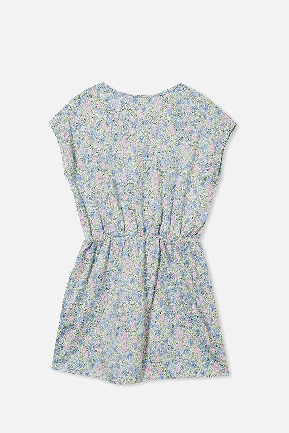 Sigrid Short Sleeve Dress, VANILLA/VINTAGE FLORAL