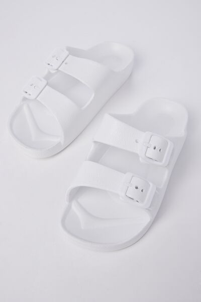 Twin Strap Slide, WHITE
