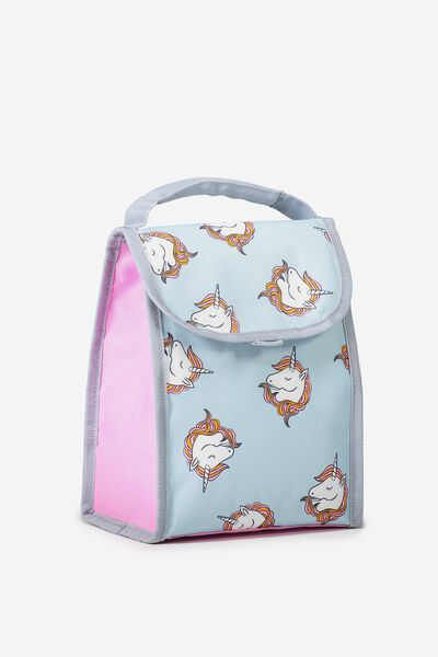 Kids Foldable Lunchbag, PURPLE UNICORN