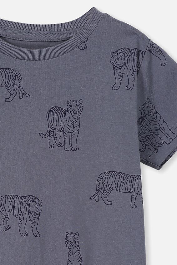 Max Short Sleeve Tee, VINTAGE NAVY/TIGERS