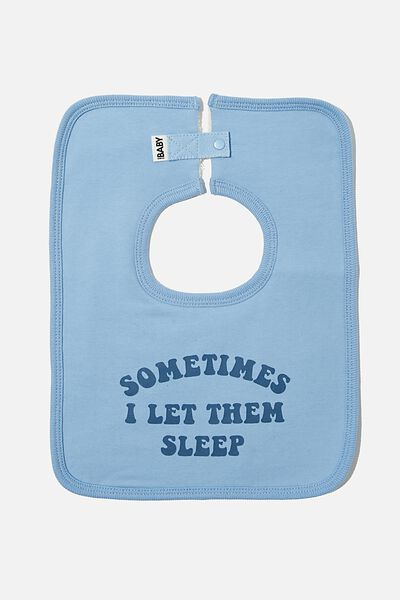 The Everyday Bib, POWDER PUFF BLUE/LET THEM SLEEP