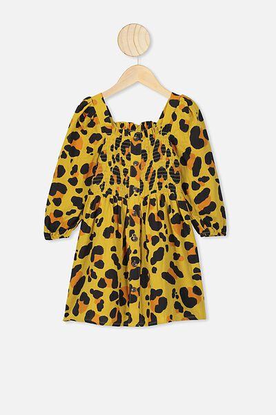 Lindsay Long Sleeve Dress, KIP&CO/LEOPARD