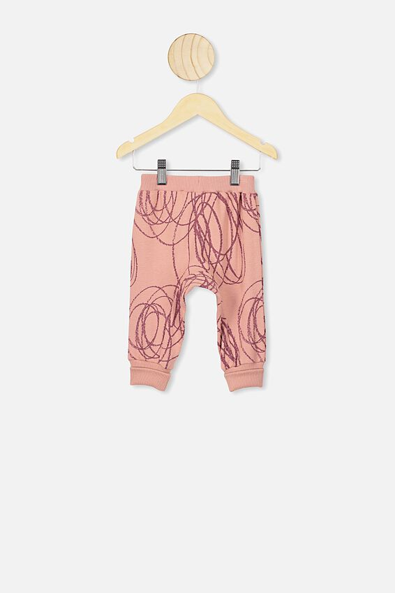 Casey Trackpant, CLAY PIGEON/BIG SCRIBBLE