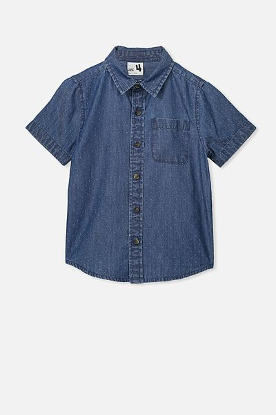 Resort Short Sleeve Shirt, INDIGO SPOT