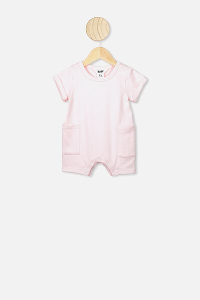 Alby Playsuit, SOLID CRYSTAL PINK
