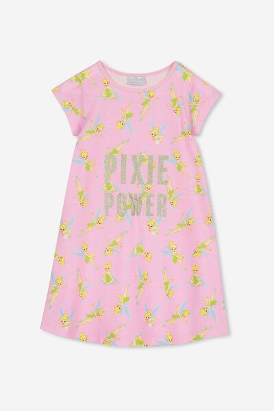 Carrie Longline Ss Nightie, LCN DIS TINKERBELL/PIXIE POWER
