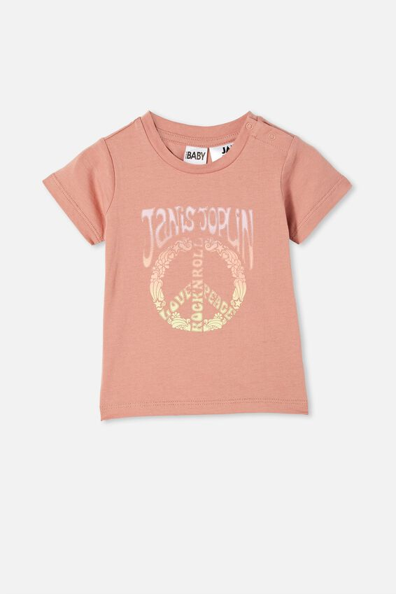Jamie Short Sleeve Tee-License, LCN PER CLAY PIGEON/JANIS JOPLIN PEACE