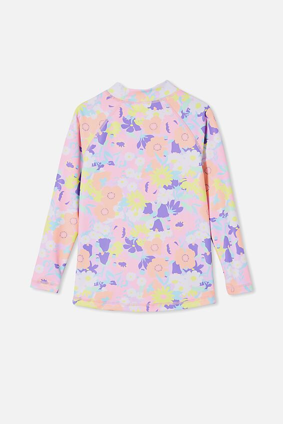 Hamilton Long Sleeve Rashie, PALE VIOLET/BRIGHT FLORAL