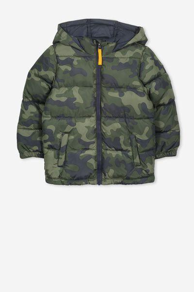 Frankie Puffer Jacket, CAMO