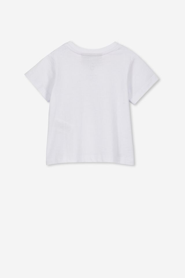 Jamie Short Sleeve Tee, LCN BR WHITE WELCOME TO THE JUNGLE