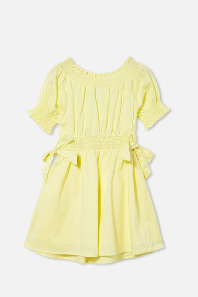 Samira Short Sleeve Dress, LEMONADE