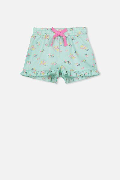 Girls Pyjama Short, BLUE DITSY FLORAL