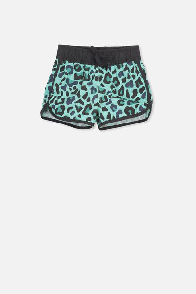 Benny Boardshort, BROOKE GREEN/LEOPARDS SPOTS