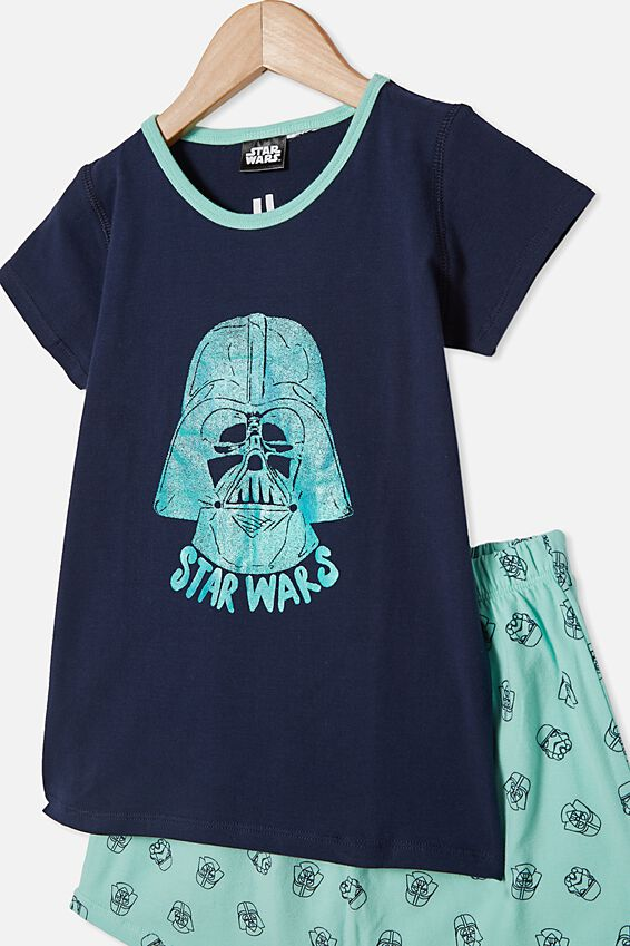 Hudson Short Sleeve Pyjama Set, MINT BREEZE STAR WARS