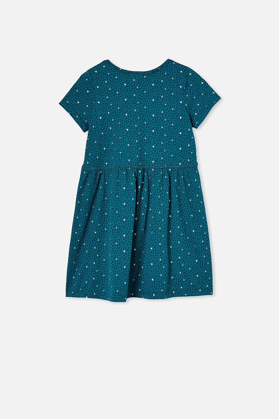 Freya Short Sleeve Dress, JADE JEWEL/DABBY SPOT