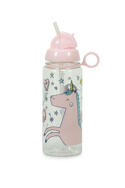 Spring Drink Bottle, PINK MAGIC UNICORN
