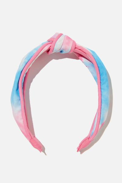 Knotted Headband, TIE DYE PINK
