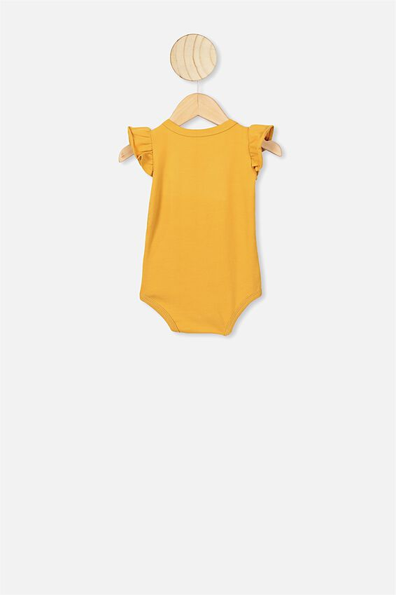 The Sleeveless Ruffle Bubbysuit, VINTAGE HONEY