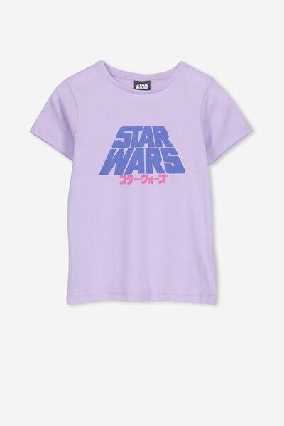 Lux Short Sleeve Tee, LCN LU BABY LILAC/STAR WARS FAR AWAY/MAX