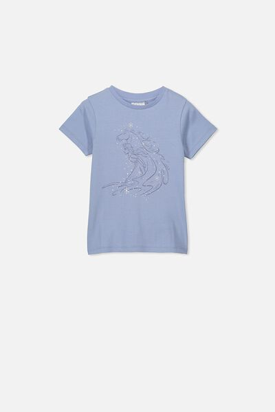 Lux Short Sleeve Tee, LCN DIS DUSTY BLUE/FROZEN WATERHORSE/MAX