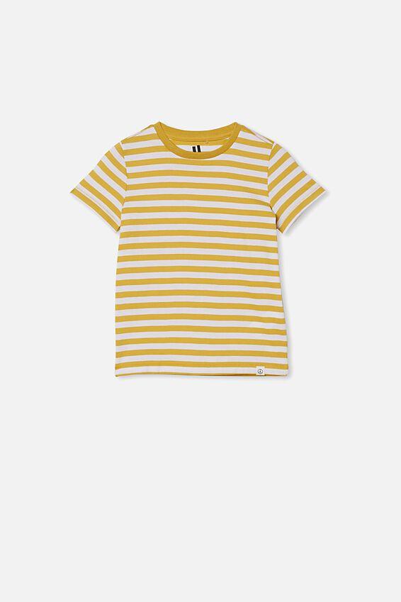 Core Short Sleeve Tee, HONEY GOLD/WHITE STRIPE