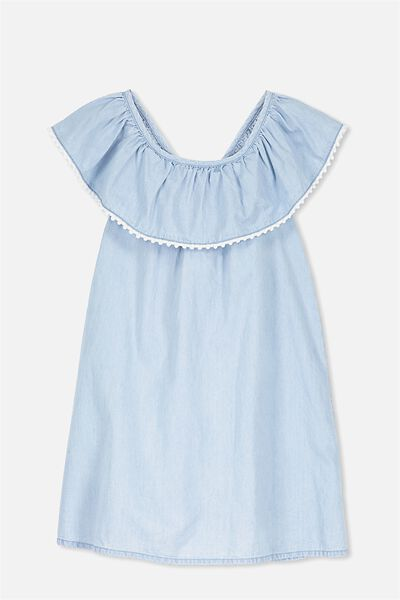 Apple Dress, LIGHT CHAMBRAY