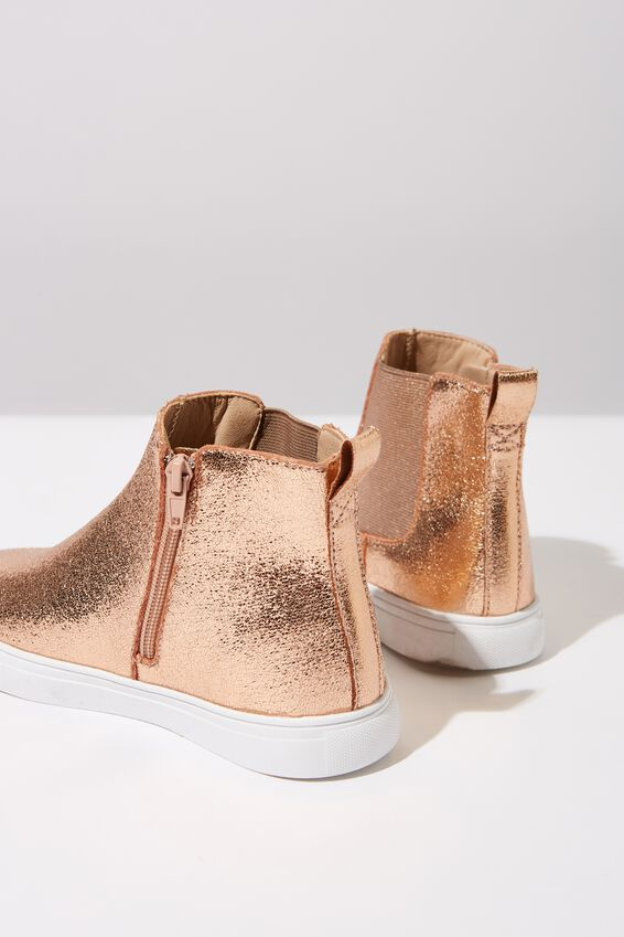 Darcy Gusset Boot, CRACKED ROSE GOLD