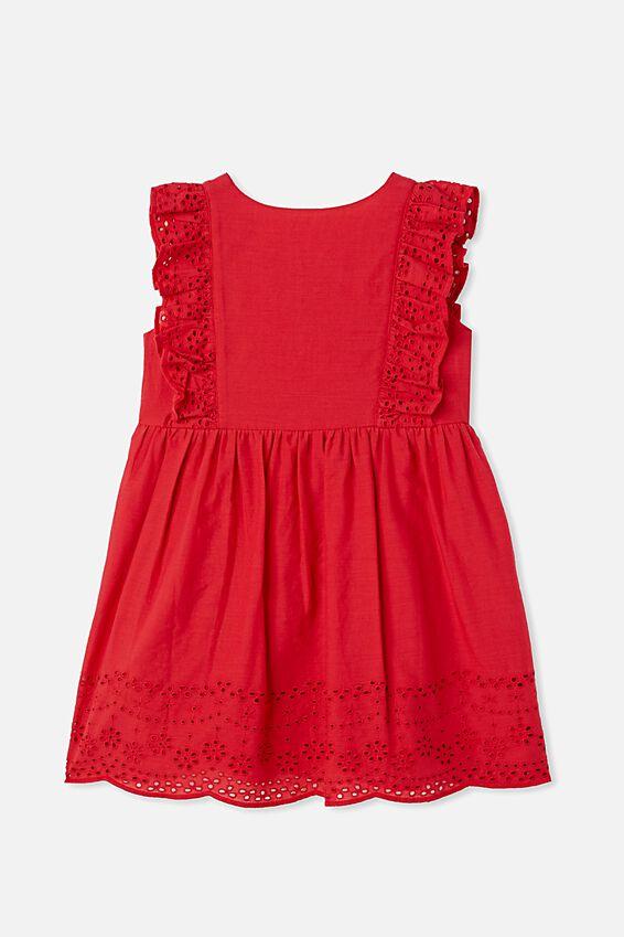 Gretchen Sleeveless Dress, LUCKY RED