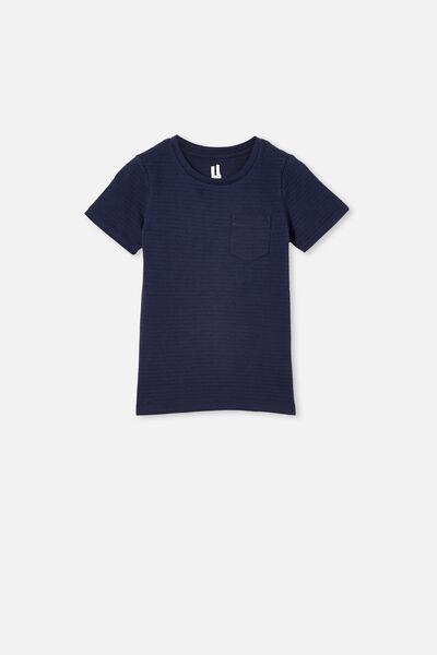 Louis Short Sleeve Texture Tee, INDIGO/TEXTURE