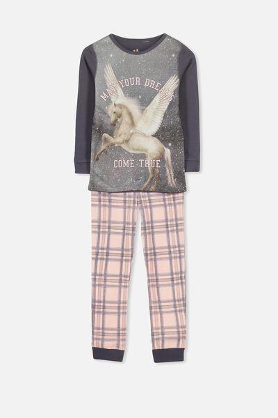 Personalised Girls Long Sleeve Pyjama Set, PHOTO UNICORN PERSONALISED