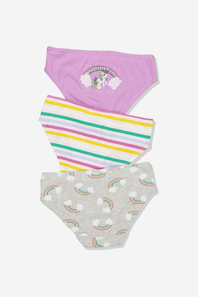 Girls 3Pk Licence Undies, LCN HAS MY LITTLE PONY MIX